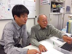 株式会社未来機械代表取締役社長の三宅徹さんと同社顧問の福井次郎さん