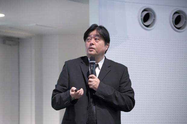 東北大学工学部石田先生によるホール紹介と工学技術の分野横断型アプローチに関するご講演